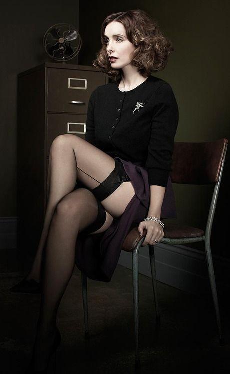 Ładne sekretarka, to sekretarka w pończochach